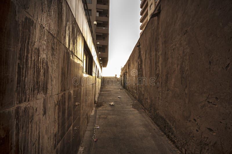 закончите тоннель Улица любит тоннель в Азербайджане Баку стоковая фотография rf