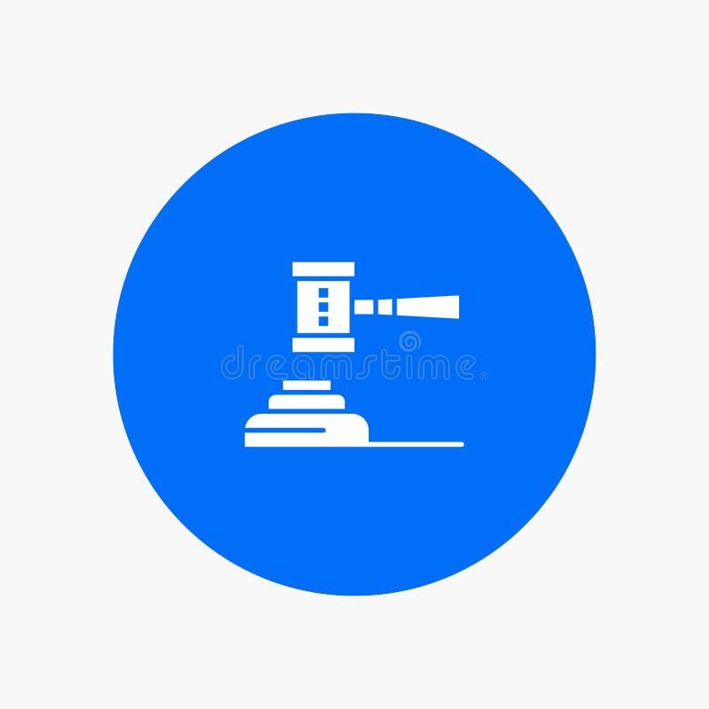 Закон, действие, аукцион, суд, молоток, молоток, судья, законный иллюстрация вектора