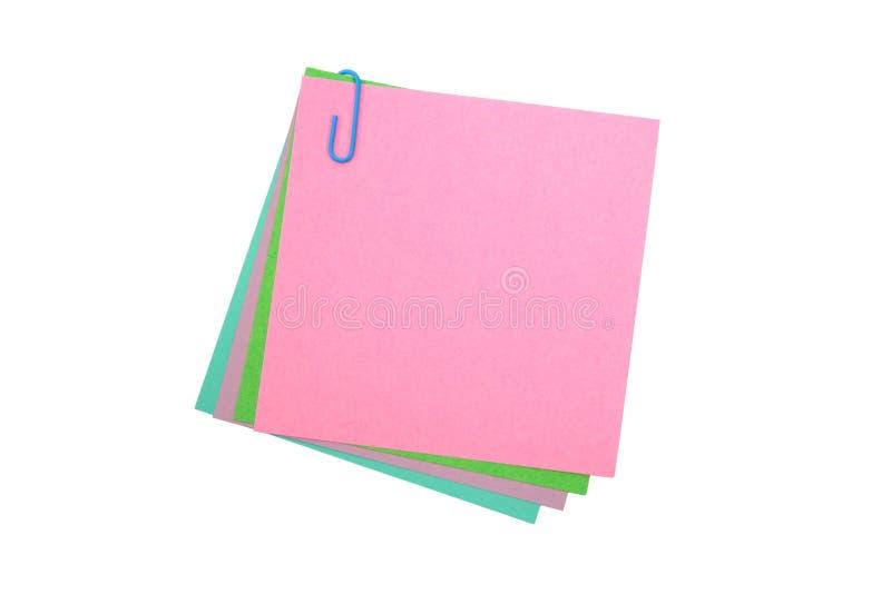 закрепите свой бумажный столб стоковые изображения rf
