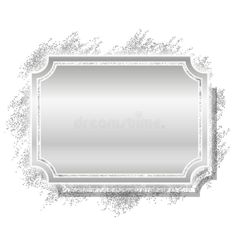 закреплять бленд содержит цифровой серебр скреста путя сетки иллюстрации градиента рамки Красивый дизайн яркого блеска Граница ви иллюстрация штока