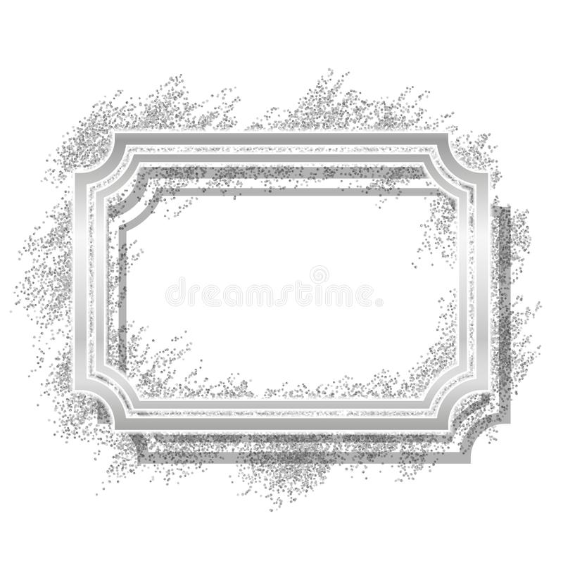 закреплять бленд содержит цифровой серебр скреста путя сетки иллюстрации градиента рамки Красивый дизайн яркого блеска Граница ви бесплатная иллюстрация