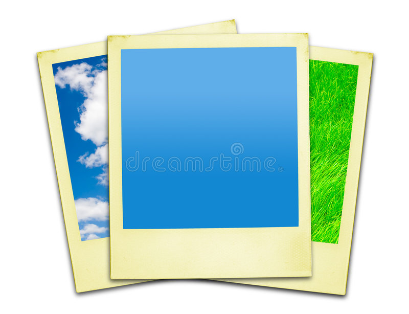 закрепляя включенные фото путей поляроидные иллюстрация вектора