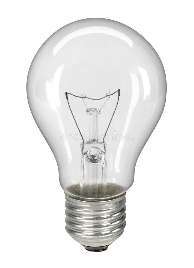закрепляя изолированная белизна путя lightbulb стоковые изображения rf