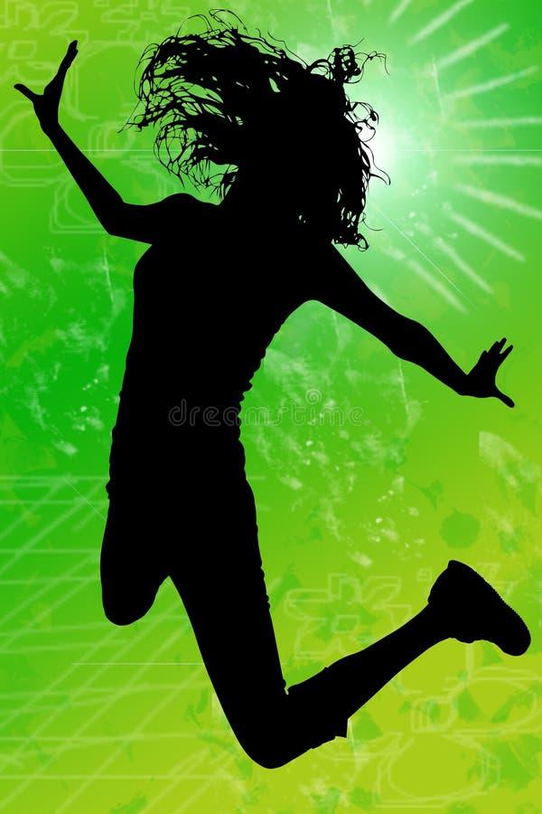 Download закрепляя скача женщина силуэта путя Иллюстрация штока - иллюстрации насчитывающей персона, скакать: 6852852