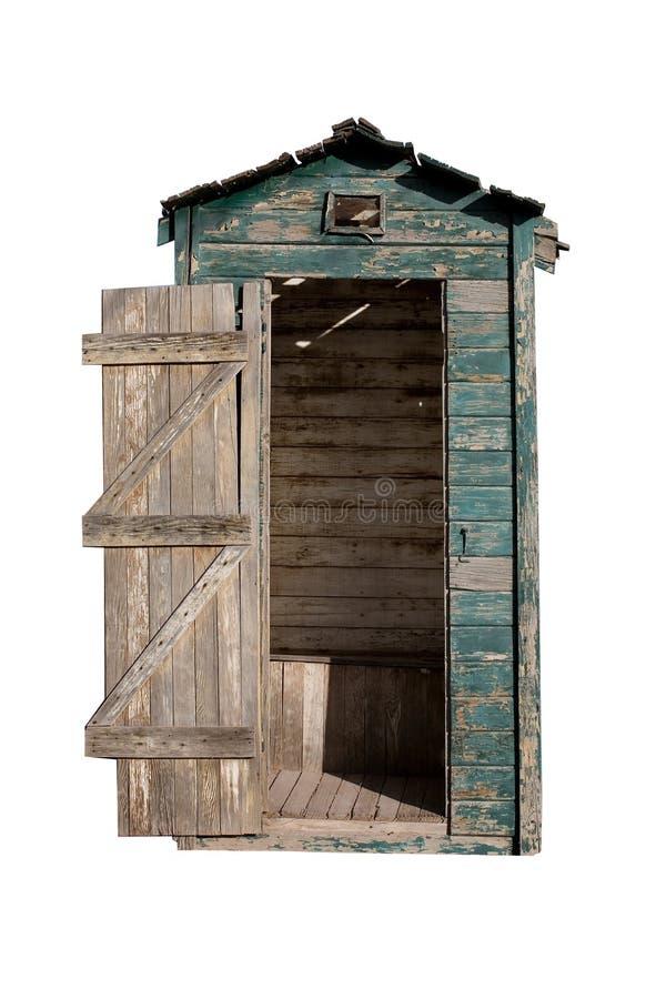 закрепляя старый путь outhouse стоковое изображение rf