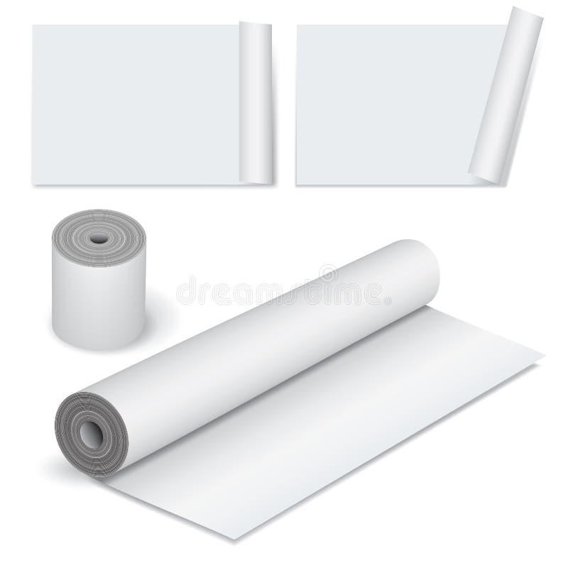 закройте бумажный крен снятый вверх бесплатная иллюстрация
