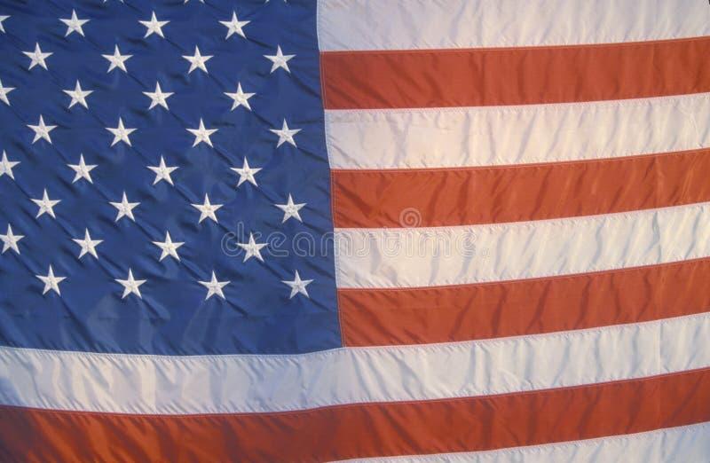 Закройте вверх американского флага стоковое фото