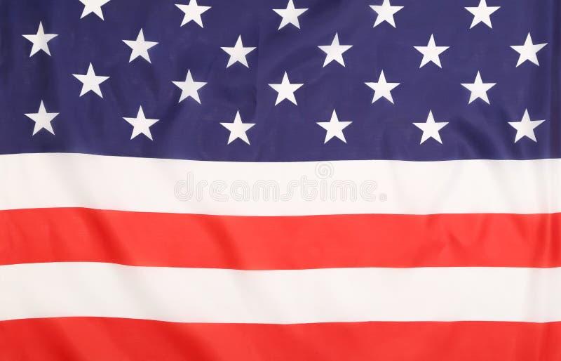 Закройте вверх американского флага. стоковая фотография