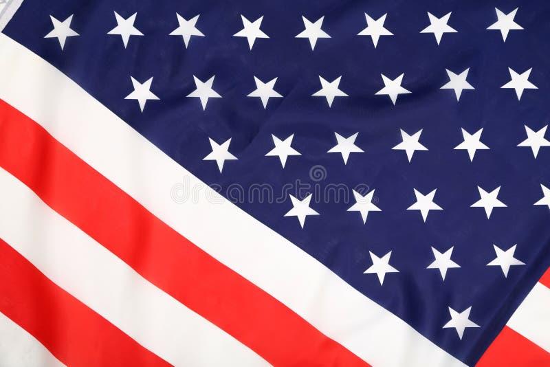 Закройте вверх американского флага. стоковое изображение