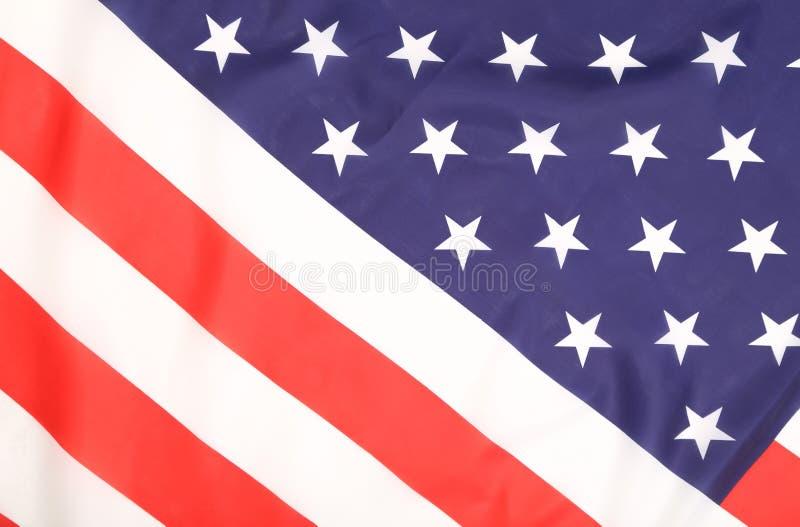 Закройте вверх американского флага. стоковые фотографии rf