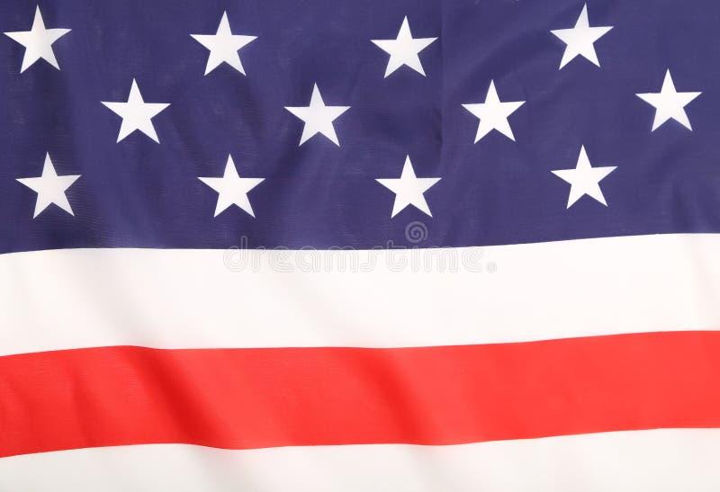 Закройте вверх американского флага. стоковое фото rf