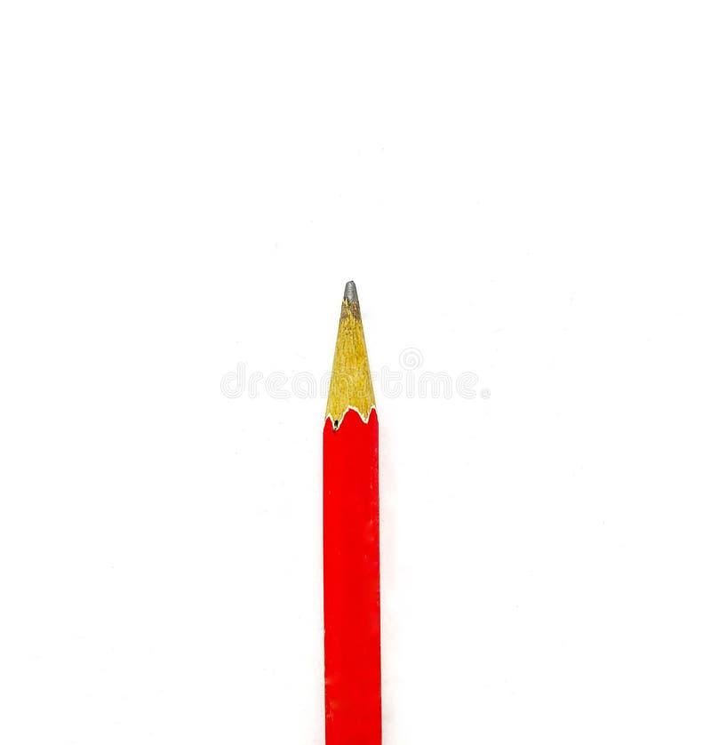 Закройте вверх верхнюю часть красного карандаша стоковая фотография rf