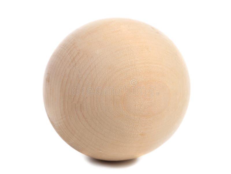 Закройте вверх деревянной сферы. стоковая фотография rf