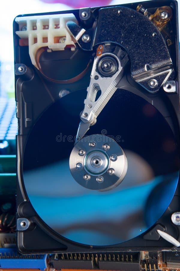 Закройте вверх жёсткого диска с абстрактным отражением стоковое фото