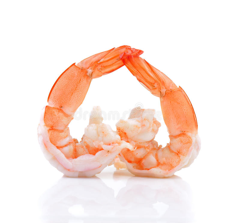 Закройте вверх кипеть креветок для предпосылки морепродуктов стоковая фотография