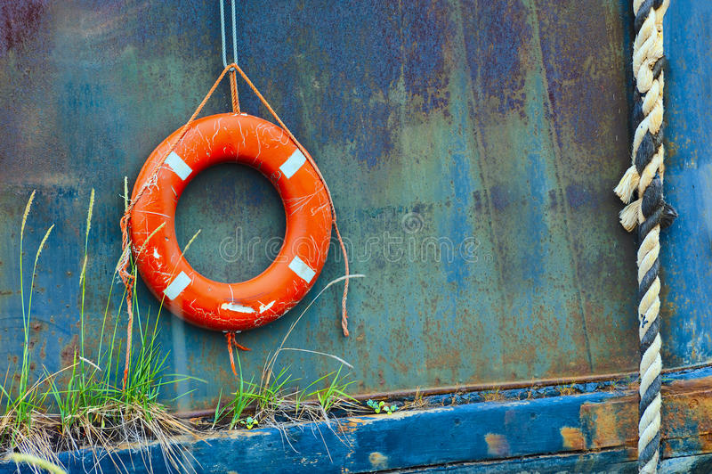 Закройте вверх колец спасательных жилетов стоковые изображения rf