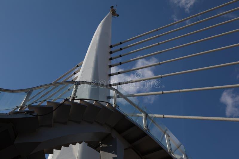 Закройте вверх моста в индюке os Стамбула города в солнечном дне стоковые изображения