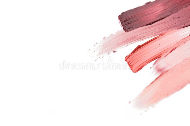 Закройте вверх образца мазка губной помады стоковое фото