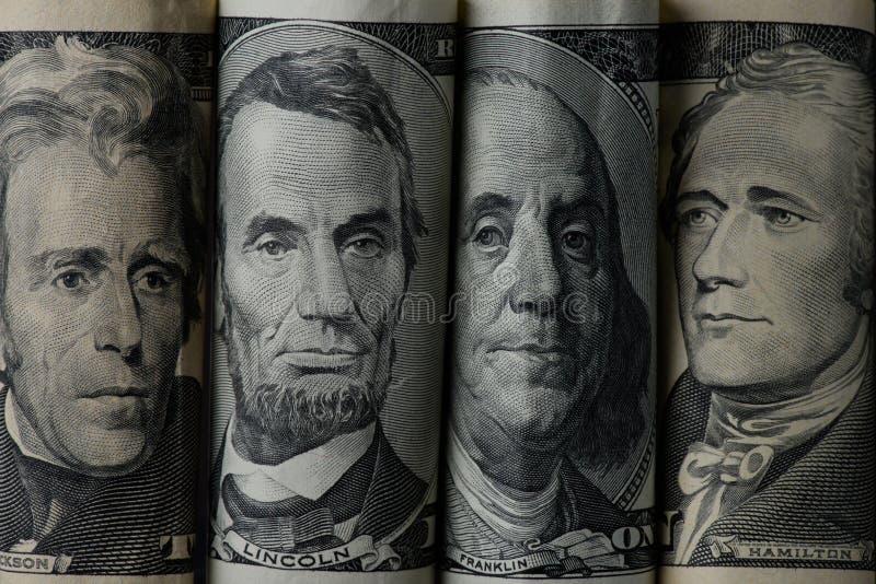 закройте вверх по взгляду американских президентов стоковые изображения