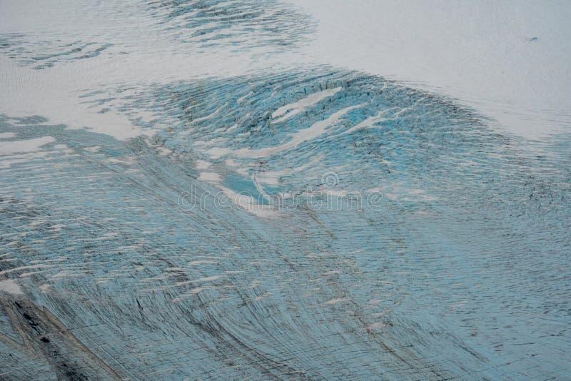 Закройте вверх по взгляду воздушного фотографирования безымянного ледника около Seldovia Аляски вдоль залива Kachemak в Аляске стоковая фотография rf