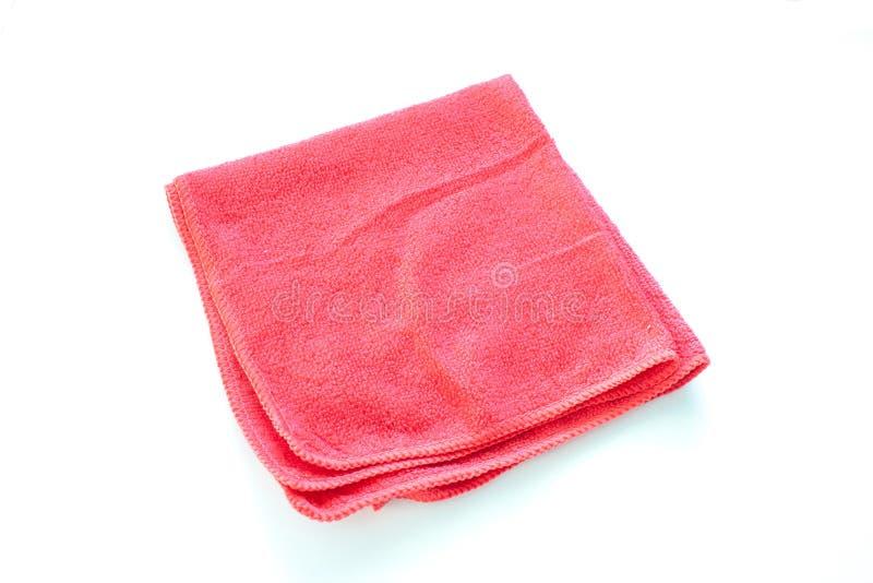 Закройте вверх по новым красным wipes или ветошам изолированным на белой предпосылке стоковое фото rf