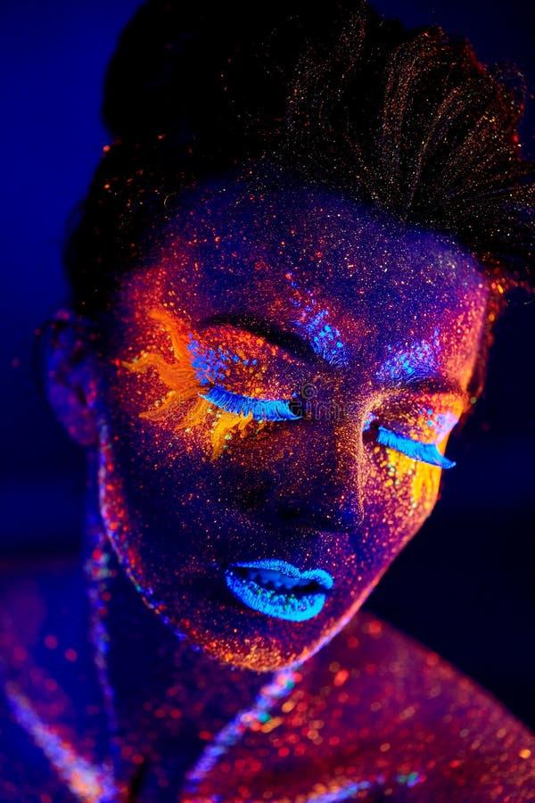 Закройте вверх по портрету искусства ультрафиолетовому стоковая фотография rf