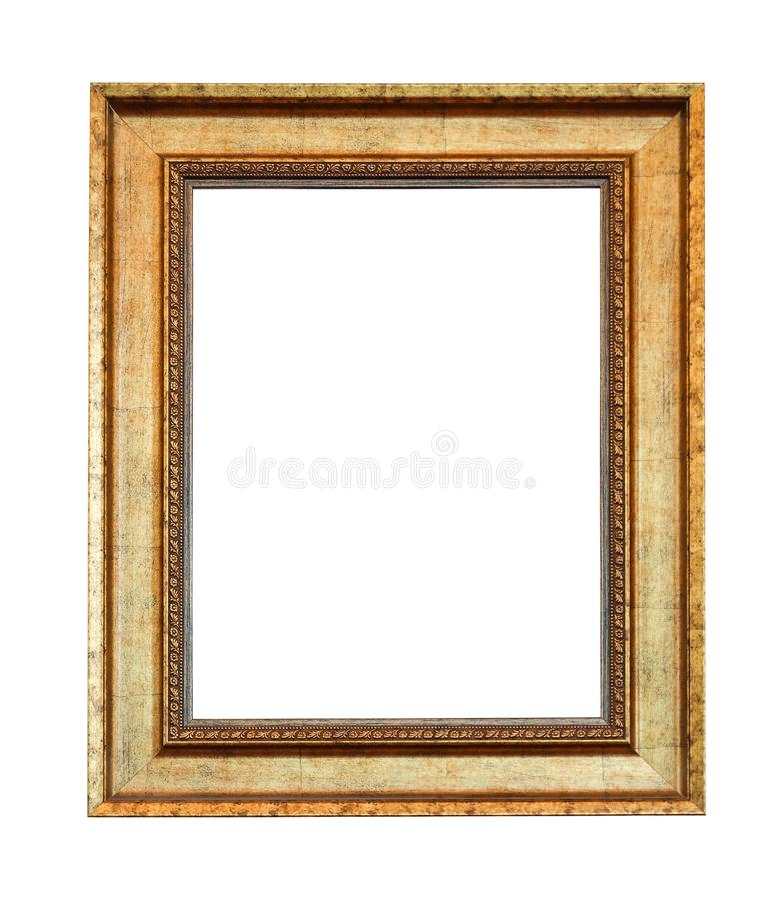 Закройте вверх по старой винтажной картинной рамке стоковые фото