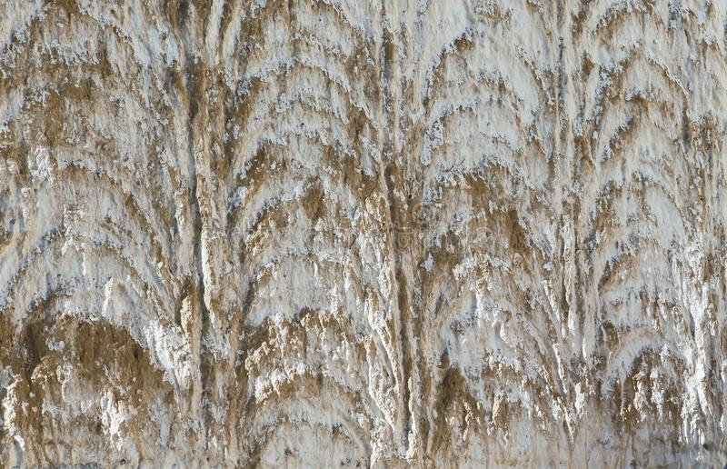 Закройте вверх по текстуре белой стены старого монастыря в Тибете стоковые изображения rf