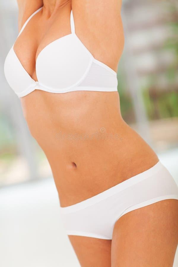 Тело женщины тонкое стоковое фото