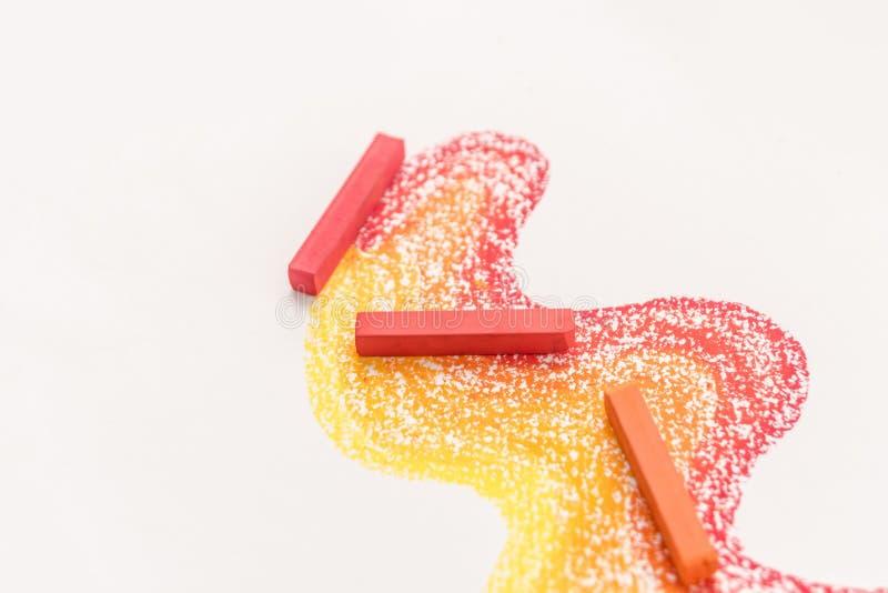Закройте вверх по фото градиента сделанному пастельных мел crayon над стоковые фотографии rf
