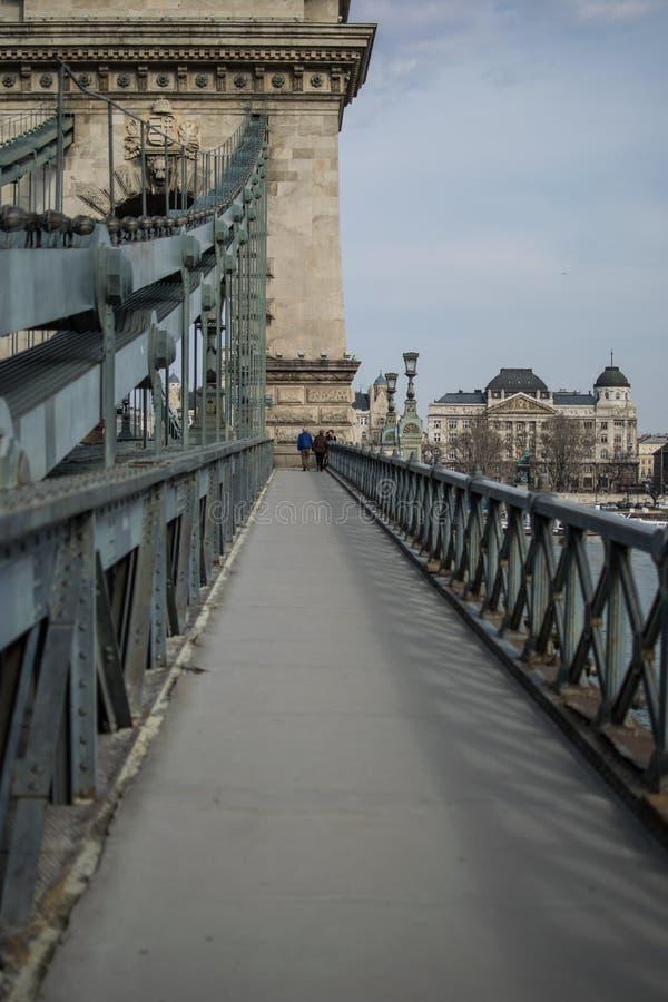 Закройте вверх по цепному мосту стоковые изображения