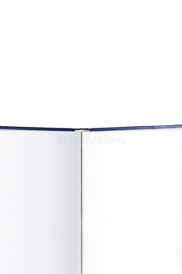 Закройте вверх пустой книги на белой предпосылке стоковые фотографии rf