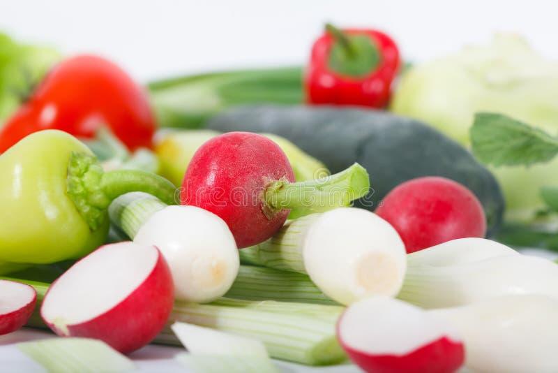 Закройте вверх различных красочных сырцовых овощей стоковые фотографии rf