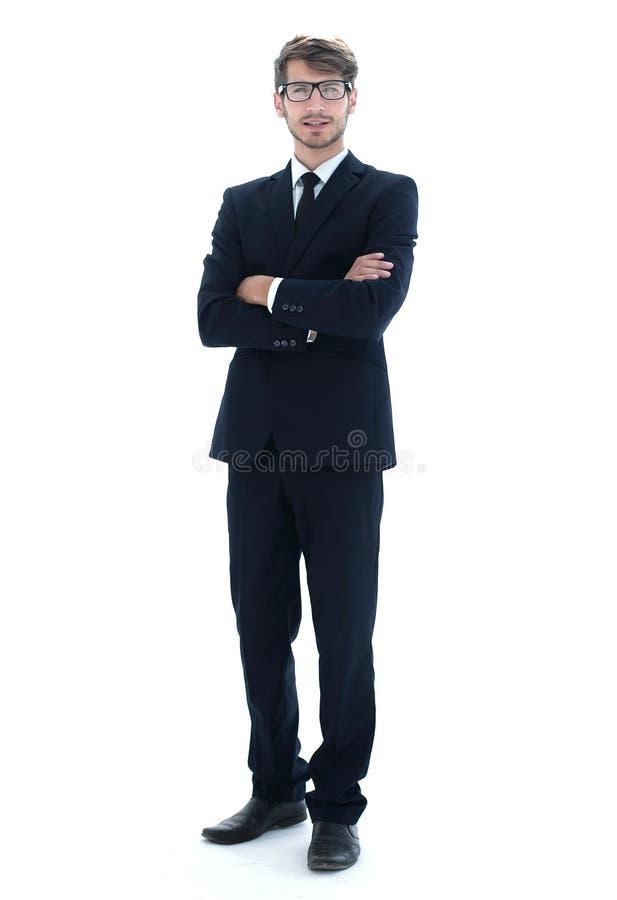 Закройте вверх руки бизнесмена указывая на камеру изолированную на a стоковые фото