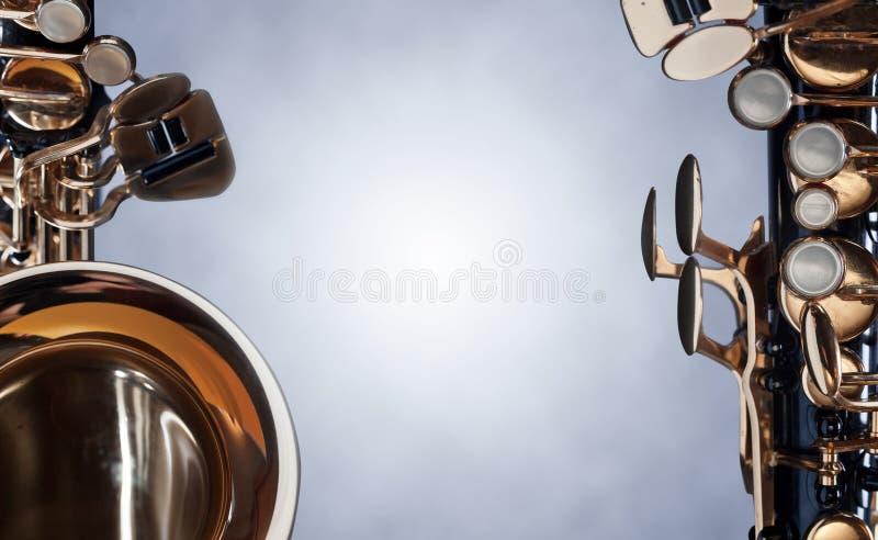Закройте вверх саксофона альта стоковая фотография rf