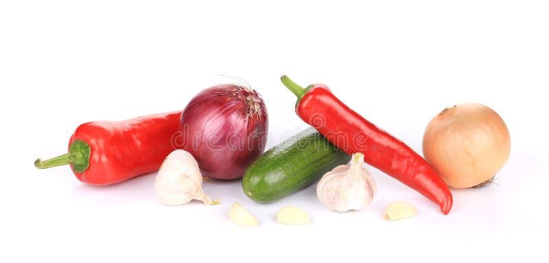 Закройте вверх свежих овощей стоковое изображение