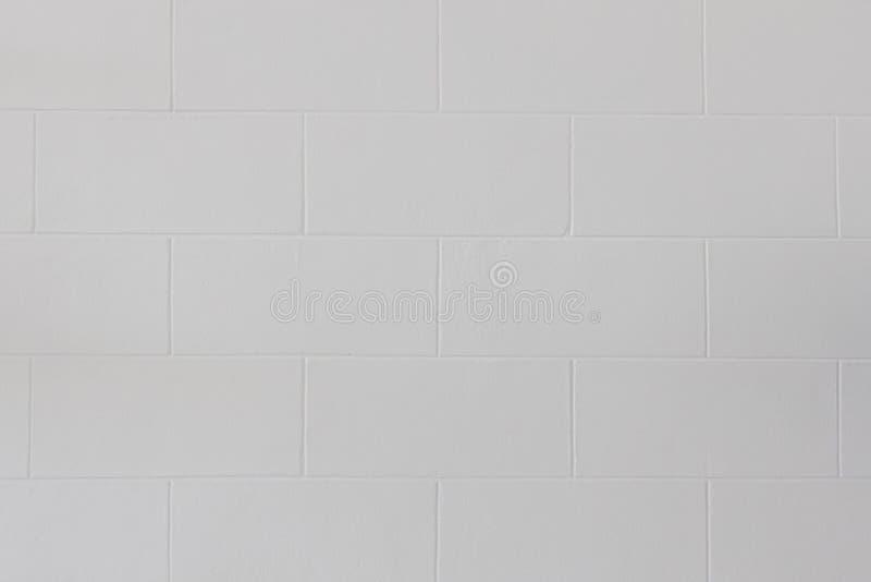 Закройте вверх современной белой предпосылки текстуры кирпичной стены или пола блока стоковое изображение