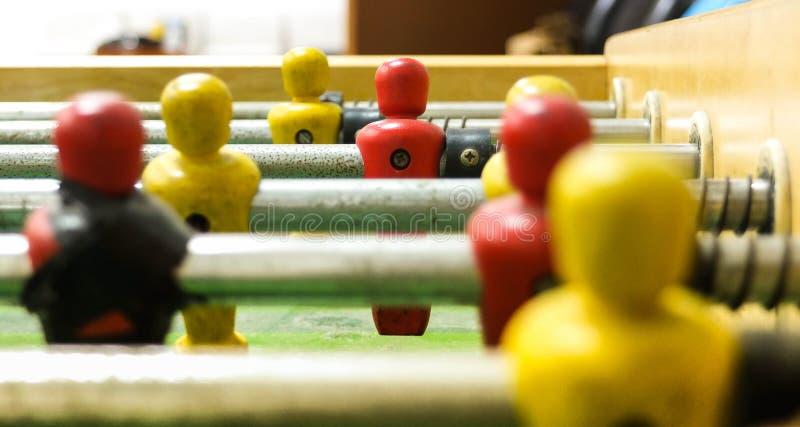 Закройте вверх футбольной игры столешницы стоковое изображение rf