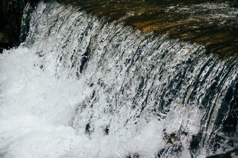 Закройте вверх холодной свежей воды в реке горы, речных порогах, whitewater стоковое фото rf