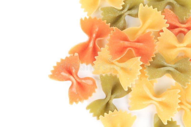 Закройте вверх цветов макаронных изделий 3 farfalle стоковое изображение