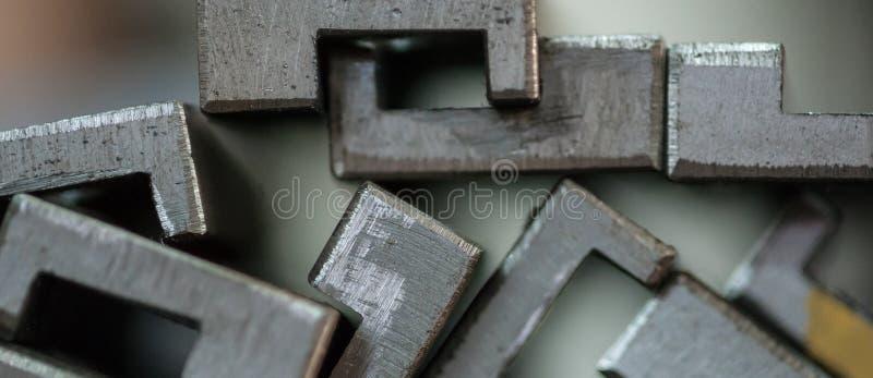 Закройте вверх штабелированных металлических пластин стоковое изображение rf