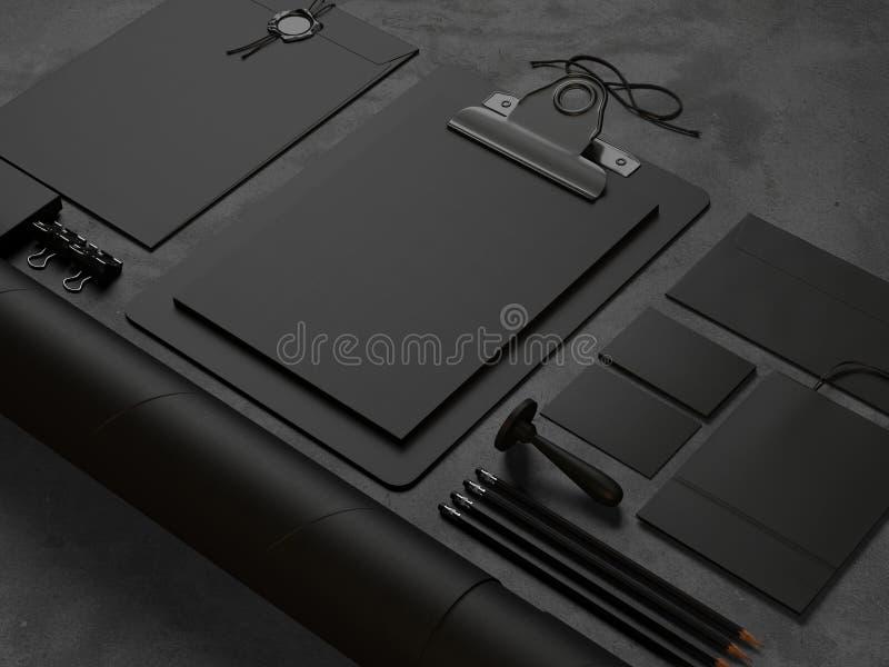 Закройте вверх элементов офиса на конкретной таблице стоковые изображения rf