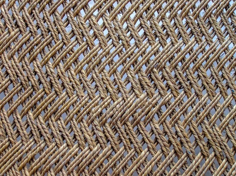 Закройте вверх webbed деревянной кроватки, Индии стоковая фотография