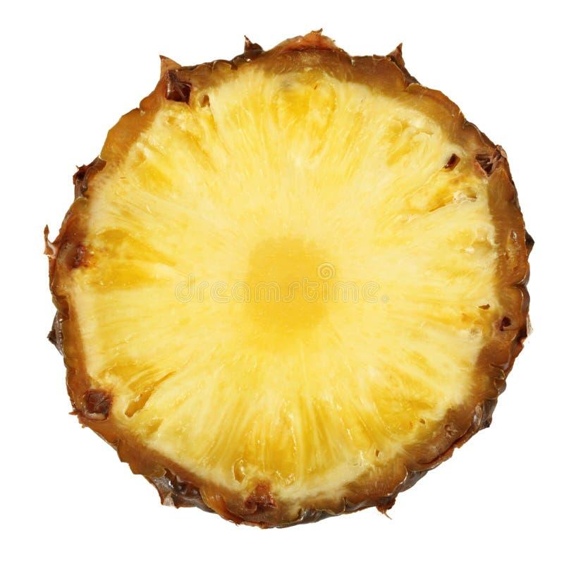 закройте изолированный ананас отрежьте вверх стоковое фото rf