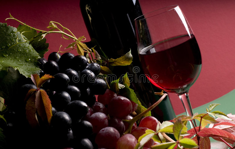 закройте красный цвет виноградины вверх по вину стоковые фотографии rf