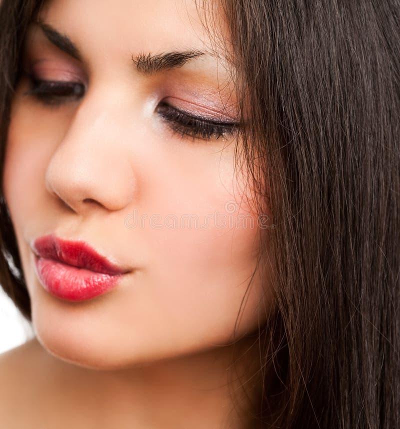 закройте лицевая сторона женщину стоковые фотографии rf