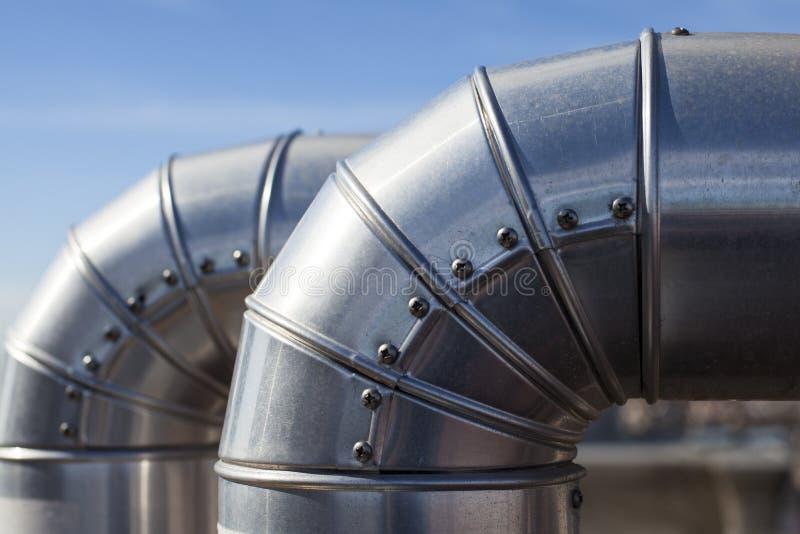 Серебряные трубопроводы. стоковое изображение rf