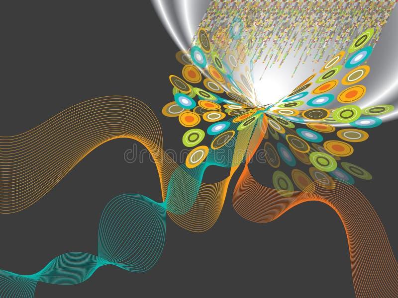 закрутка пирофакела бабочки op иллюстрация штока