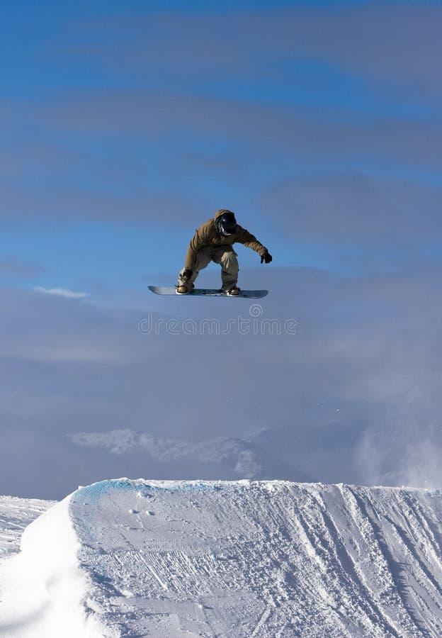 закрутка snowboard стоковая фотография rf