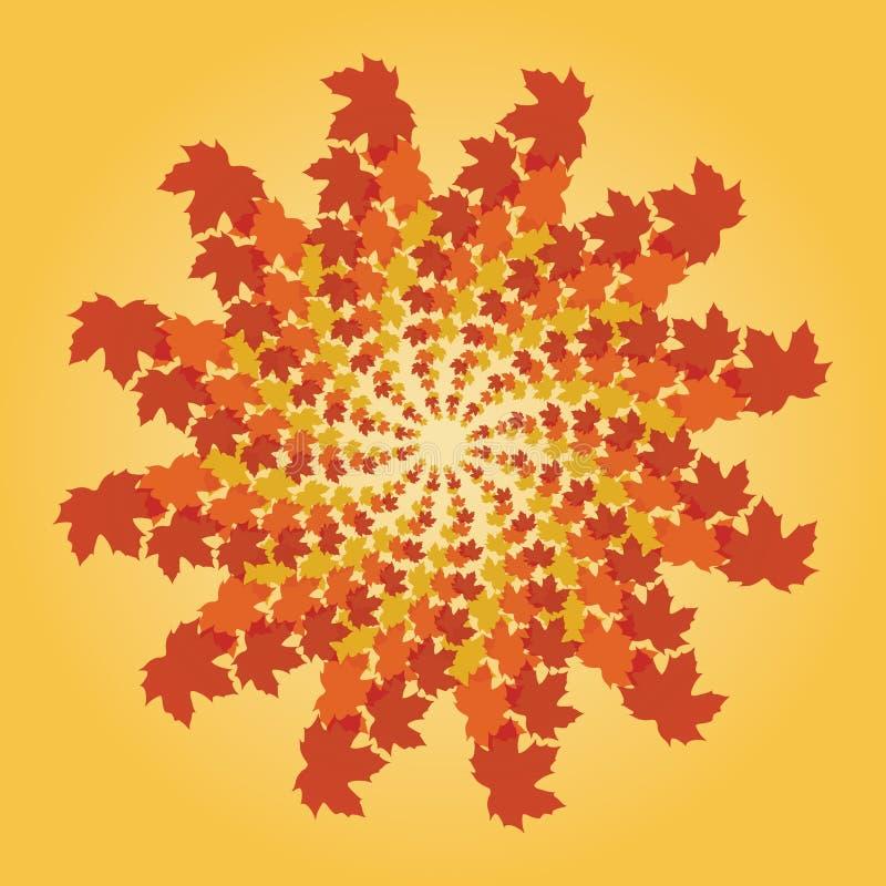 закручивать в спираль листьев падения бесплатная иллюстрация